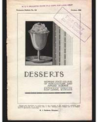 Desserts Michigan State College of Agric... by Baldwin, R. J.