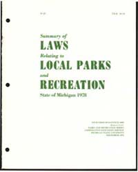 Summary of Laws Relating to Local Paris ... by Michigan State University