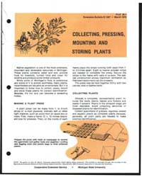 Collecting, Pressing Mounting and Storin... by Michigan State University