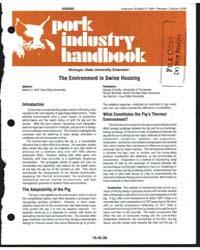Housing Pork Industry Handbook, Document... by Steven J. Hoff