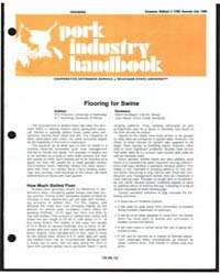 Housing Pork Industry Handbook, Document... by R. D. Fritschen