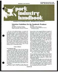 Breading and Genetics Pork Industry Hand... by Gene A. Isler