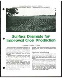 Surface Drainage for Improved Crop Produ... by L. S. Robertson