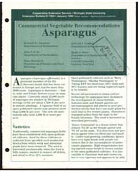 Commercial Vegetable Recommendations, As... by Zandstra, Bernard H.