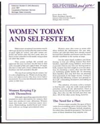 Self-esteem and You, Document E1316Rev1 by Jeanne Brown