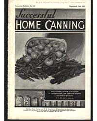 Successful Home Canning, Document E132Re... by Baldwin, R. J.