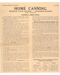 Home Canning, Document E132Rev1 by Michigan State University