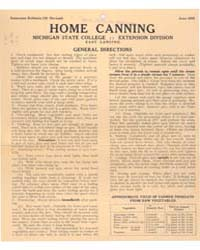 Home Canning, Document E132Rev2 by Michigan State University
