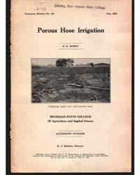 Porous Hose Irrigation, Document E133 by O. E. Robey