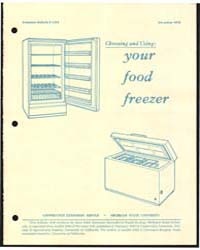 Your Food Freezer, Document E1334 by Michigan State University
