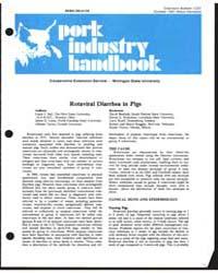 Rotaviral Diarrhea in Pigs, Document E13... by Linda J. Saif