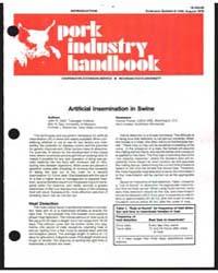 Artificial Insemination in Swine, Docume... by John R. Diehl