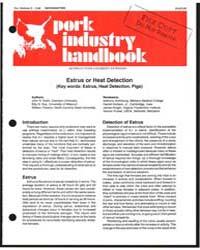 Estrus or Heat Detection, Document E1340... by John R. Diehl