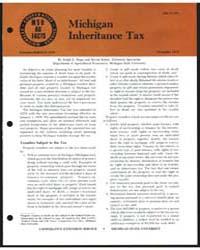 Michigan Inheritance Tax, Document E1348 by Ralph E. Hepp