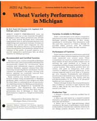 Wheat Variety Performance in Michigan, D... by R.D. Freed