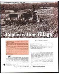 Conservation Tillage, Document E1354 by W. J. Cook