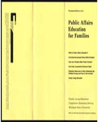 Public Affairs Education for Families, D... by Michigan State University