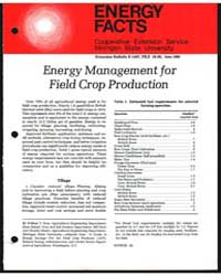 Energy Management for Field Crop Product... by Michigan State University