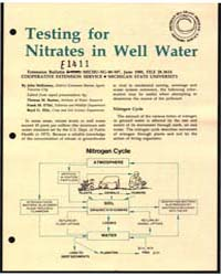 Testing for Nitrates in Well Water, Docu... by John McKinney