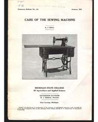 Care of the Sewing MacHine, Document E14... by Bell, A. J.