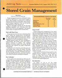 Stored Grain Managelment, Document E1431... by Roger Brook