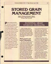 Stored Grain Managelment, Document E1431... by Roger C. Brook
