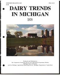 Dairy Trends in Michigan 1978, Number 2,... by Michigan State University