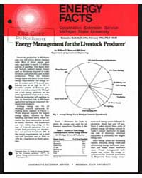 Energy Management for the Livestock Prod... by William T. Rose