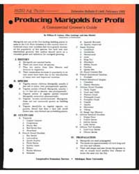 Producing Marigolds for Profit a Commerc... by William H. Carlson