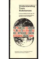 Understanding Toxic Substances, Document... by Michigan State University