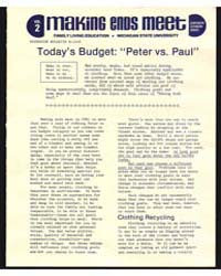 Making Ends Meet, Today's Budget:Peter V... by Michigan State University