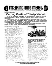 Making Ends Meet, Cutting Costs of Trans... by Michigan State University
