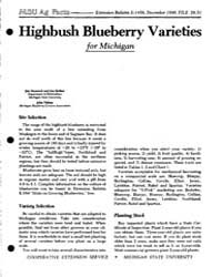 Highbush Blueberry Varieties for Michiga... by Hancock, Jim