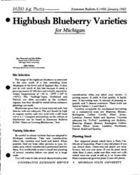 Highbush Blueberry Varieties for Michiga... by Hancock, Jim