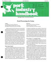 Feed Processing for Swine, Document E146... by Lee Johnston
