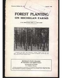 Forest Planting on Michigan Farms, Docum... by Westveld R. H.