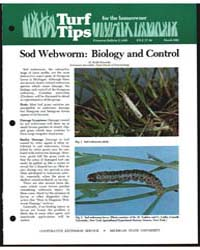 Sod Webworm : Biology and Control, Docum... by Kennedy, Keith