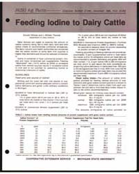 Feeding Iodine to Dairy Cattle, Document... by Donald Hillman