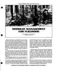 Woodlot Management, Document E1486-1981-... by M.R. Koelling