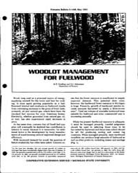 Woodlot Management, Document E1486-1983-... by M.R. Koelling