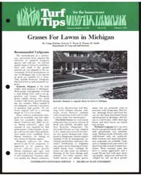 Grasses for Lawns in Michigan, Document ... by Gregg Patchan