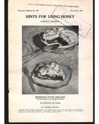 Hints for Using Honey, Document E150 by Hershey, Roberta