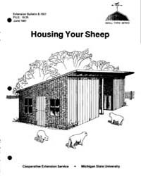Housing Your Sheep, Document E1501-1981 by Marvin Heft