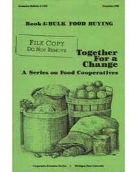 Book 4::Bulk Food Buying, Document E1505... by Elizabeth Scott
