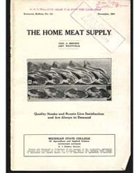 The Home Meat Supply, Document E151 by Brown, Geo. A.