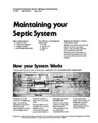 Maintaining Your Septic System, Document... by Michigan State University