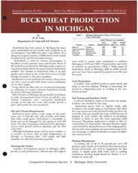 Buckwheat Production in Michigan, Docume... by R. H, Leep