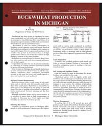 Buckwheat Production in Michigan, Docume... by R. H. Leep