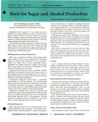 Beets for Sugar and Alcohol Production, ... by D. R. Christenson