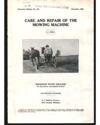 Care and Repair of The, Document E153 by Bell, A., J.